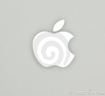 Free The Apple Logo On Mac Book White Notebook Royalty Free Stock Photography - 19257567