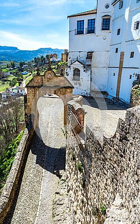 Free The Arch Of Philip V In Ronda, Spain Stock Photo - 111804730