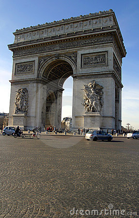 Free The Arch Of Triumph In Paris Royalty Free Stock Photography - 1955137