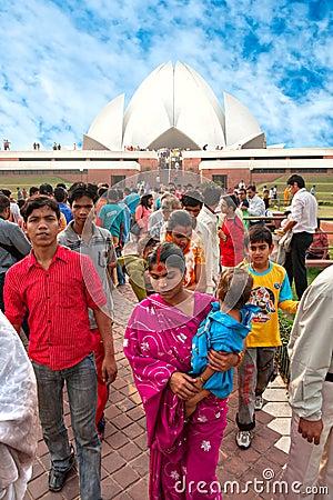 Free The Baha I House Of Worship, New Delhi, India Stock Photography - 22133252