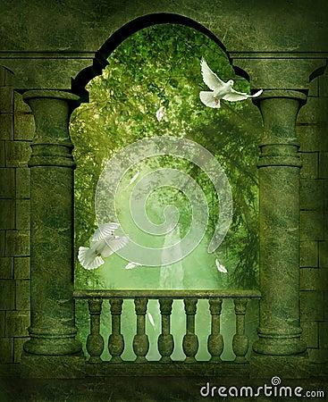 Free The Balcony Royalty Free Stock Photography - 12612807
