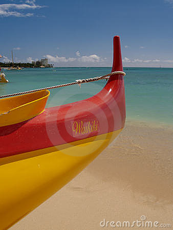 Free The Beach At Waikiki Outrigger Stock Photography - 3621392