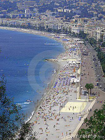Free THE BEACH IN NICE Stock Image - 3077291