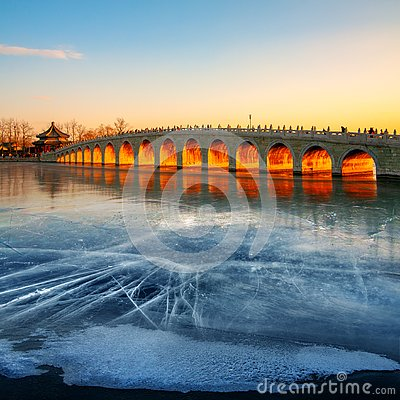 Free The Beijing Summer Palace, Winter Solstice, China Stock Photos - 135399063