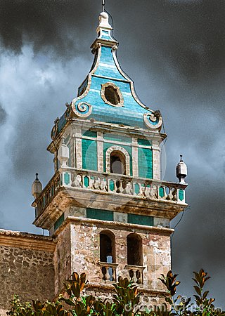 Free The Bell Tower Of The Monastery In Valldemossa Royalty Free Stock Photos - 83183088