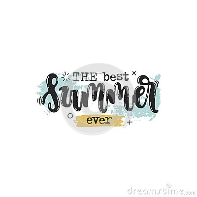 Free The Best Summer Ever Royalty Free Stock Photo - 119306975