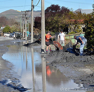 Free The Big Clean Up, Christchurch Earthquake Damage Royalty Free Stock Photos - 15919768
