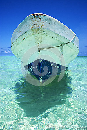 Free The  Blue Lagoon Relax And Boat   Of Sian Kaan In Mexico Royalty Free Stock Photo - 35718585