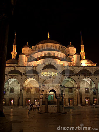 Free The Blue Mosque By Night Stock Photos - 1583593