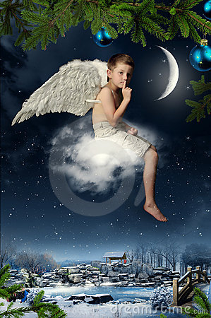 Free The Boy-angel Royalty Free Stock Photos - 11655378