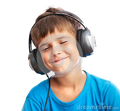 Free The Boy Is Enjoy The Music Stock Photography - 26301922