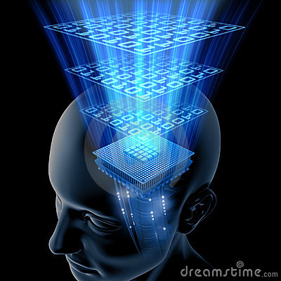 Free The Brain Is Thinking (CPU) Royalty Free Stock Photos - 2892738