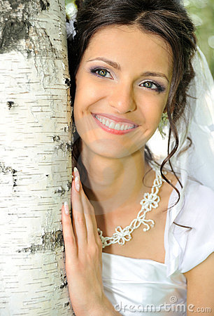 Free The Bride And A Birch Royalty Free Stock Image - 10962296