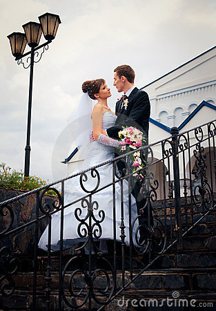 Free The Bride And Groom Look At Each Other Royalty Free Stock Photography - 24046807