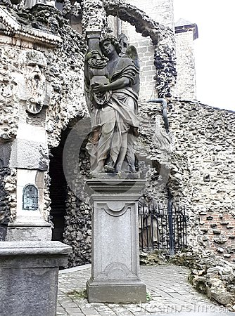 Free The`Calvarie Garden` Behind The Church Of St. Paul In Antwerp, Belgium - Detail Statue Royalty Free Stock Photos - 113638618