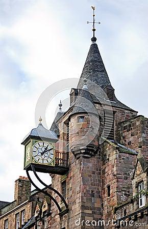 Free The Canongate Tolbooth S Clock, Royal Mile, Edinburgh Stock Photo - 28223800
