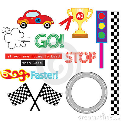 Free The Car Race Vector Pack Royalty Free Stock Photos - 12839438