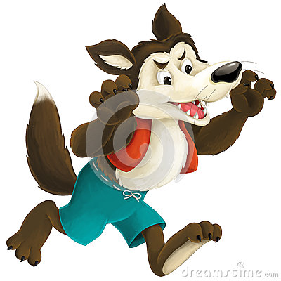 Free The Cartoon Wolf Stock Photos - 57632553