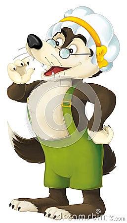 Free The Cartoon Wolf Royalty Free Stock Image - 57634456