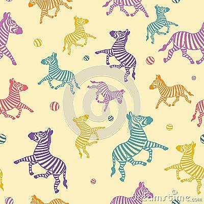 Free The Cartoon Zebra Seamless. Royalty Free Stock Photo - 16618465