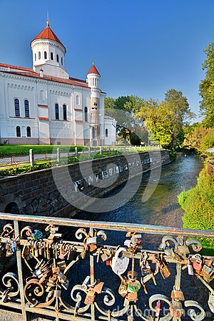 Free The Cathedral Of The Theotokos And Vilnia River. Užupis. Vilnius. Lithuania Stock Image - 59825801