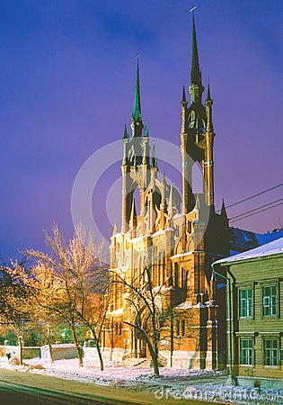 Free The Catholic Church In The City Of Samara Royalty Free Stock Photo - 103297945