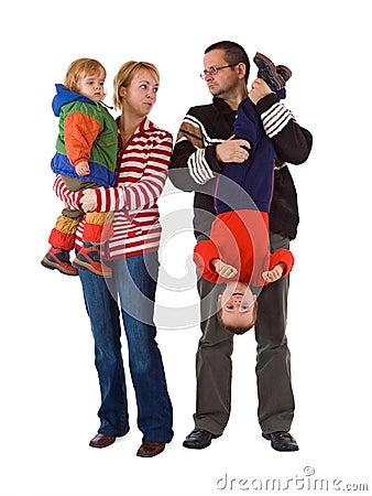 Free The Chaos Of Raising Kids Stock Photo - 4622140