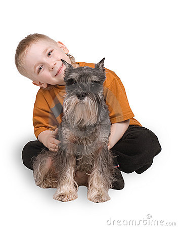 Free The Child With A Dog Stock Photo - 3196550