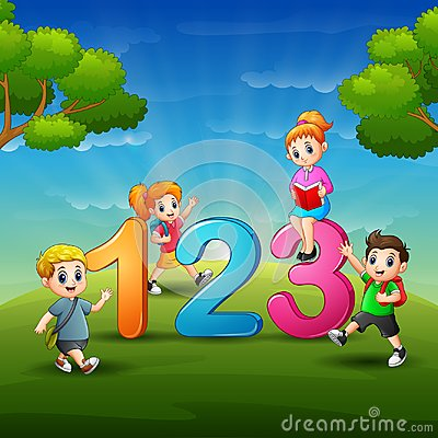 Free The Children Are Learn Number Royalty Free Stock Photo - 118302985