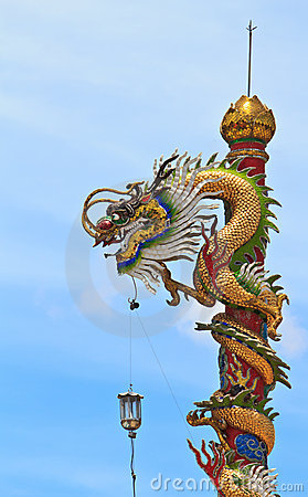 Free The Chinese Dragon Pole Royalty Free Stock Image - 19975316