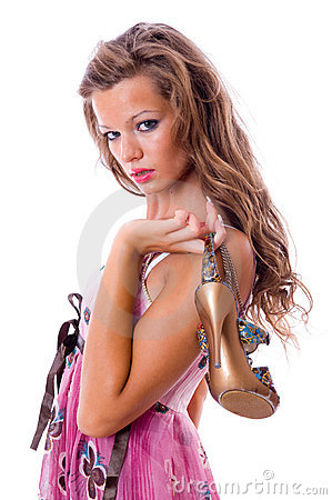 Free The Choice Of Shoes Is Very Difficultly. Stock Photos - 6039033