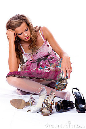 Free The Choice Of Shoes Is Very Difficultly. Stock Image - 6393441