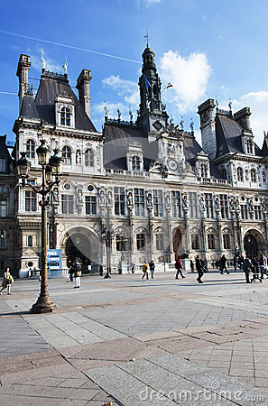Free The City Hall Of Paris Stock Photography - 27577782