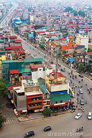 Free The City(Hanoi) Of Vietnam Royalty Free Stock Image - 17712306