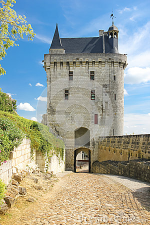 Free The Clock Tower. Fortress. Chinon. France Royalty Free Stock Image - 44520356