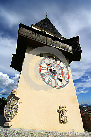 Free The Clock Tower In Graz Royalty Free Stock Images - 38060699
