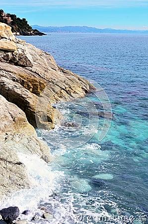Free The Coast At Sea Of Varazze Stock Photos - 55922853