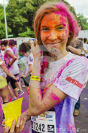 Free The Color Run Bucharest Royalty Free Stock Image - 44612726