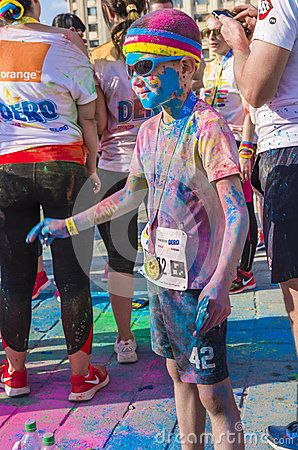 Free The Color Run Bucharest Royalty Free Stock Photo - 53337385