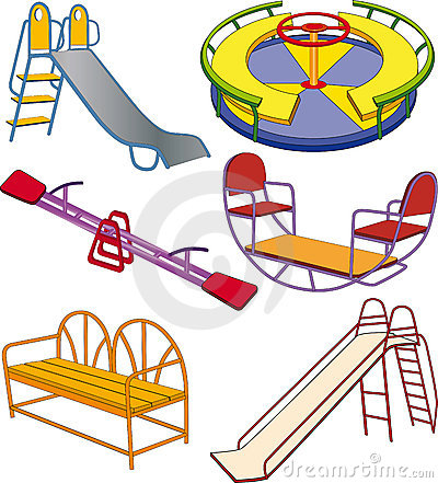 Free The Complete Set A Children S Swing Stock Photo - 18054470