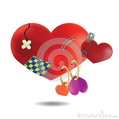 Free The Concept Of A Broken Wounded Heart After Many Relationships, Royalty Free Stock Image - 49859476