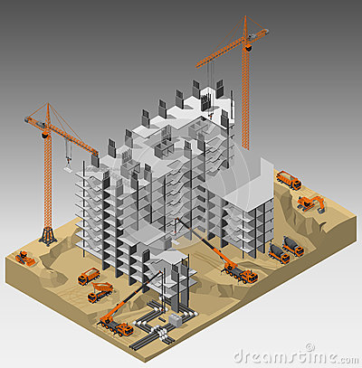 Free The Construction Site. Royalty Free Stock Images - 92513429