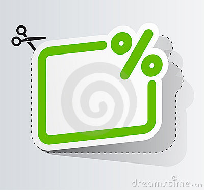 Free The Coupon On The Discount Stock Photography - 17958922