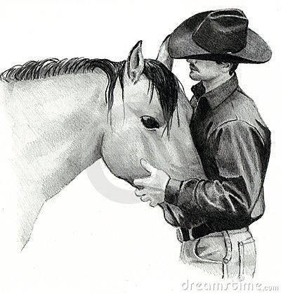 Free The Cowboy And His Horse Stock Photos - 12840553