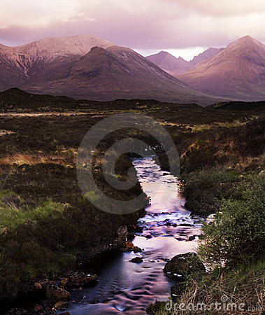 Free The Cullin Hills And River Royalty Free Stock Photo - 2816455