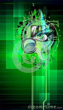 Free The Cyber-eye Is Watching The Owner Of The Phone. Abstract Splash In The Phone. Stock Photo - 103386340