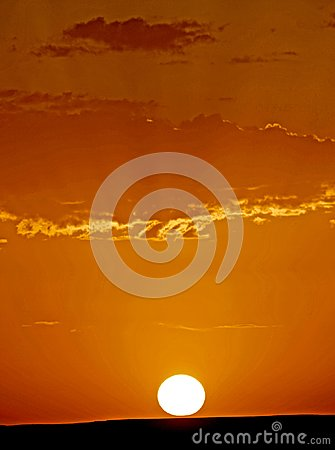 Free The Dawn Of A New Day In The Desert Dunes Of ERG In Morocco Stock Image - 103360501