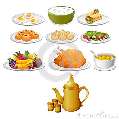 Free The Delicious Food For The Ied Mubarak With The Different Variant Royalty Free Stock Photo - 144710265