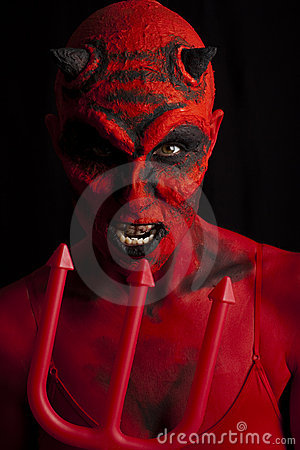 Free The Devil And Trident. Royalty Free Stock Images - 20939919