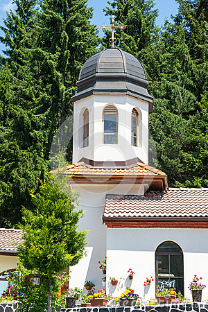 Free The Dome Of The Church Of St. Panteleimon In The Bulgarian Monastery In The Rhodopes Royalty Free Stock Image - 56971776